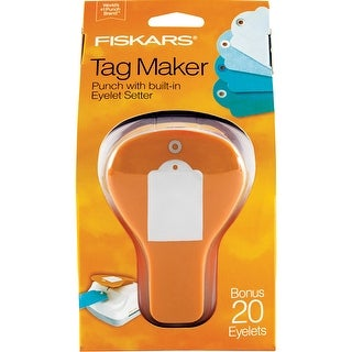Fiskars 3-In-1 Tag Maker Punch-Standard