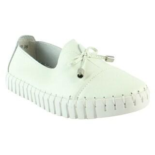 Bernie Mev Womens Riggedcharm-Hotpink-34 White Flats Size 4