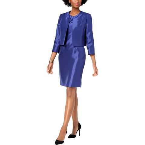 Le Suit Womens Dress Suit Shiny Flyaway