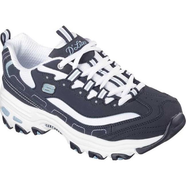 1fcc44017660 Shop Skechers Women s D Lites Sneaker Biggest Fan Navy White - On Sale -  Free Shipping Today - Overstock - 10784378