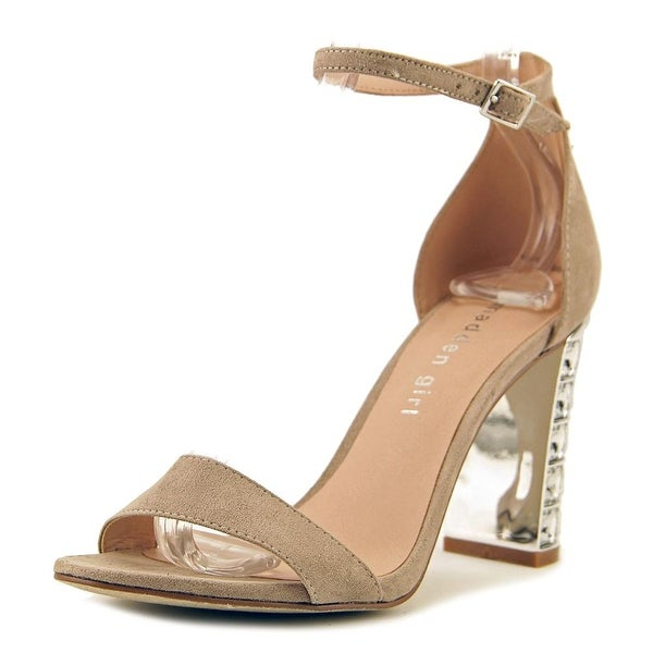 Madden Girl Banginn Women Open Toe Canvas Nude Sandals