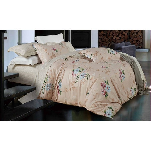 100% cotton reactive printing duvet cover set --Spring (King/ Cal King)