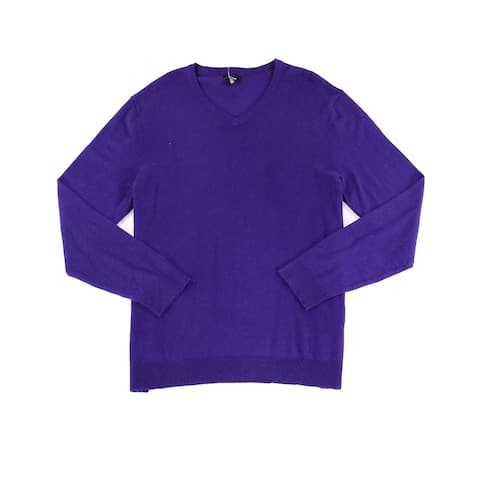 INC Mens Pure Pullover Solid Knit V-Neck Sweater