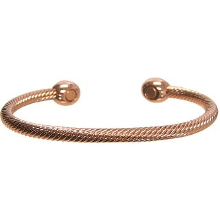 Pure Copper Rope Design 2 Magnet OSFM Bracelet, Copper