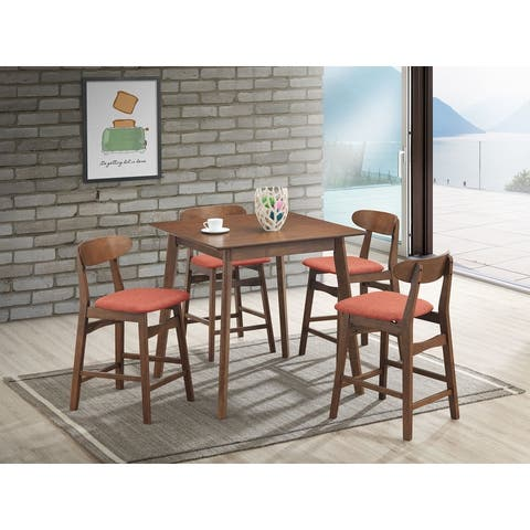 Morocco 5-pc Mid-Century Modern Upholstered Dining Set, by New Classic Furniture