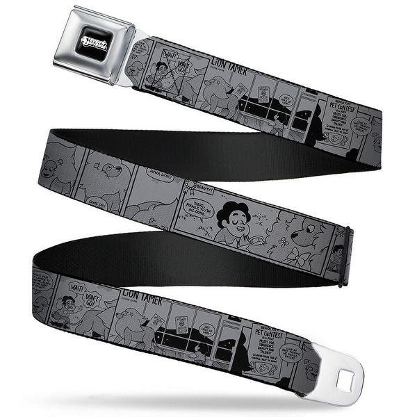 Steven Universe Logo Full Color Black White Steven Universe Pet Contest Seatbelt Belt