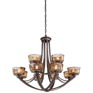 Minka Lavery 4999-271 12 Light 2 Tier Chandelier from the La Bohem Collection