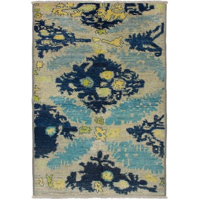 ECARPETGALLERY Hand-knotted Shalimar Navy Blue Wool Rug - 5'2 x 7'8