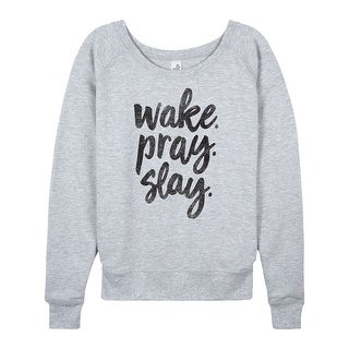 Wake Pray Slay - Ladies Lightweight French Terry Pullover
