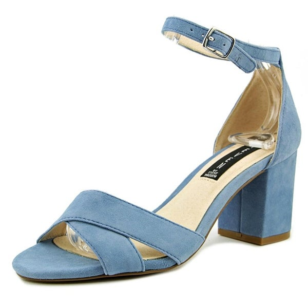 Steven Steve Madden Voomme Women Open Toe Suede Blue Sandals