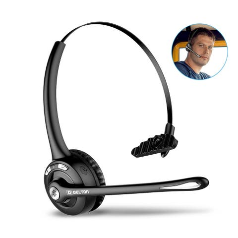 Delton Over-the-Head Trucker Headset, Bluetooth Wireless Headset with Mic