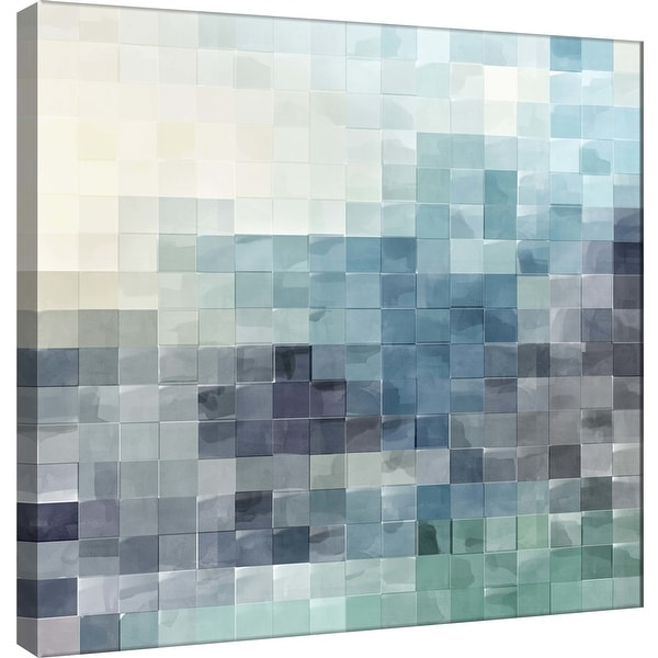 """PTM Images 9-100493 PTM Canvas Collection 12"""" x 12"""" - """"Gridded Watercolor Landscape A"""" Giclee Abstract Art Print on Canvas"""