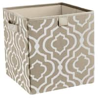 ClosetMaid 16088 2 - Handle Fabric Storage Bin, Gray Stone, Polyester