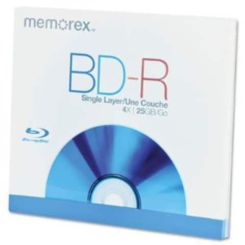 Memorex Blu-ray, 25GB, 4X, Single Layer, Write Once, Single Jewel Case