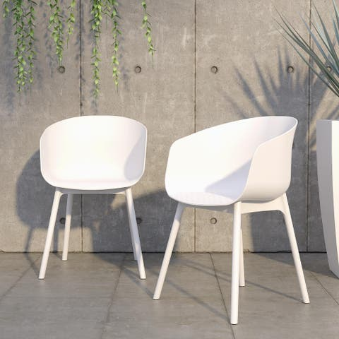 Novogratz Poolside Collection York XL Indoor/Outdoor Dining Chairs (2-Pack) - N/A