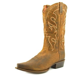 Dan Post Shrunk   Round Toe Leather  Western Boot