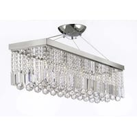 Crystal Modern Rain Drop Rectangular Chandelier Lighting