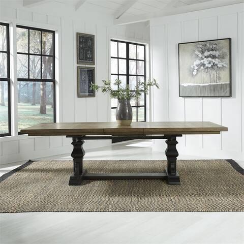Harvest Home Chalkboard Trestle Table