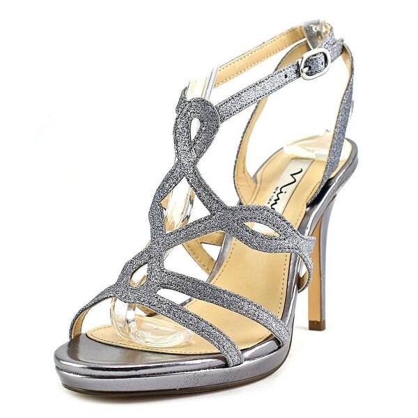 Nina Rowena Women Open Toe Synthetic Silver Sandals