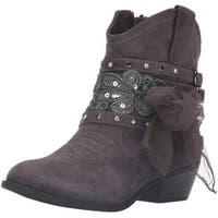 Not Rated Womens Midas Fabric Round Toe Ankle Cowboy Boots - 6