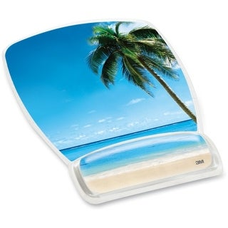 "3M MW308BH 3M Beach Design Gel Mouse Pad Wrist Rest - 8.6"" x 6.8"" Dimension - Plastic"