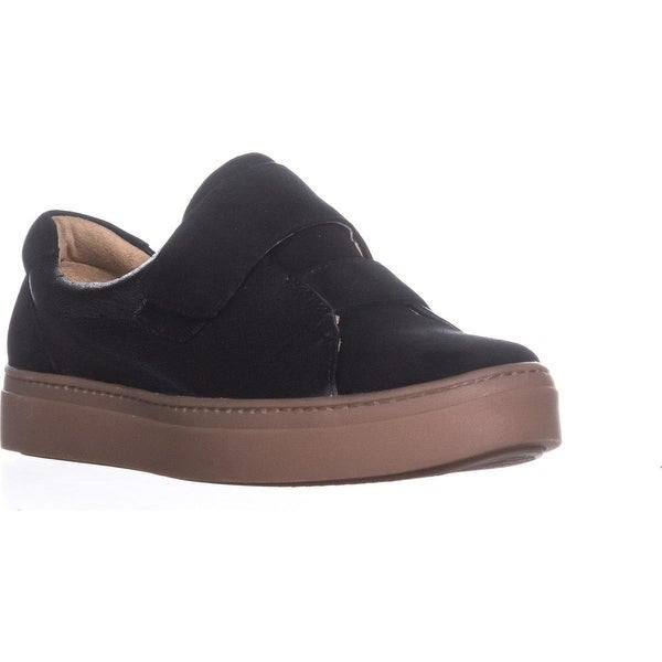 naturalizer Charlie Slip On Double Strap Sneakers, Black Leather