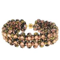 Rose Montee Right Angle Weave Bracelet - California Sunrise - Exclusive Beadaholique Jewelry Kit