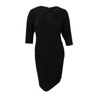 INC International Concepts Women's Plus Size Cutout Sheath Dress - Deep Black