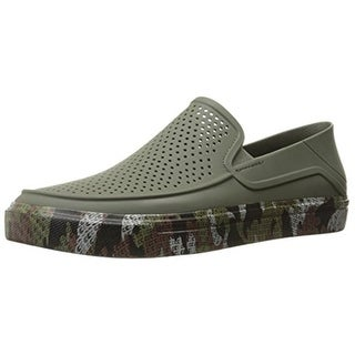 Crocs Mens Perforated Camouflage Slip-On Shoes - 13 medium (d)