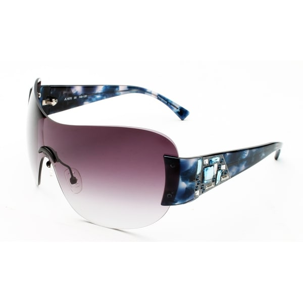 Judith Leiber Women's Mosaic Shield Sunglasses Sapphire - Small