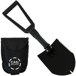 CASL Brands Steel Portable Outdoor Camping Shovel Tool with Carrying Case