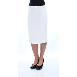Womens Ivory Knee Length Pencil Skirt Size 2XS