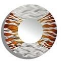 Statements2000 Silver / Brown Metal Decorative Wall-Mounted Mirror by Jon Allen - Mirror 107 - Thumbnail 1