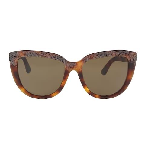 Etro ET619/S 228 Havana Cat Eye Sunglasses - 56-18-140