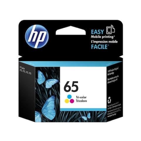 HP 65 Tri-color Ink Cartridge N9K01AN - black