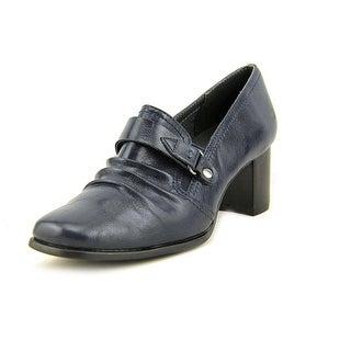 A2 By Aerosoles Peacoat Women Round Toe Synthetic Blue Heels