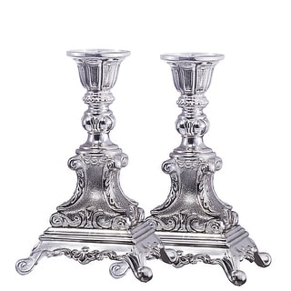 """Candle Holder Silver Plated  Set 6"""""""