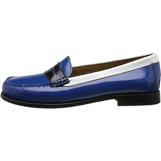 Weejuns Womens Wayfarer Patent Leather Colorblock Loafers - 6 wide (c,d,w)
