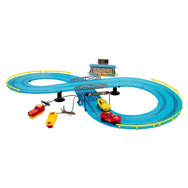 Battery Operated Junior Drive Road Racing Set. Opens flyout.