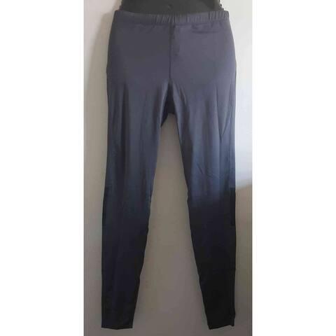 Activewear pant length leggings - solid grey