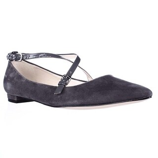 Nine West Womens Anastagia Pointed Toe Ankle Strap Mary Jane Flats (2 options available)