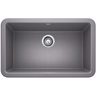 "Blanco 4017  Ikon 30"" Silgranit Granite Composite Farmhouse Apron Front Single Bowl Kitchen Sink"
