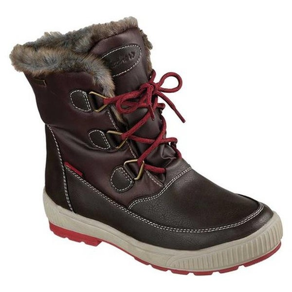 241a3c35083 Shop Skechers Women's Woodland Mid Calf Cold Weather Boot Chocolate ...