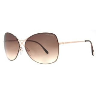Tom Ford Colette TF 250 28F Rose Gold/Brown Gradient Womens Butterfly Sunglasses - Rose gold - 63mm-12mm-135mm