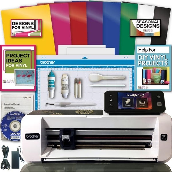 shop brother scanncut 2 scan n cut machine rainbow vinyl transfer rh overstock com