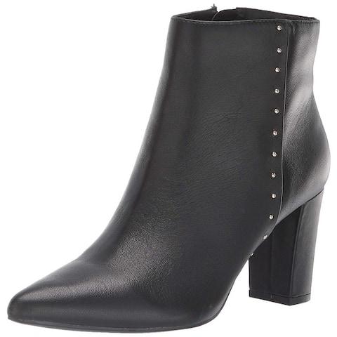 Bandolino Womens Zoila Leather Pointed Toe Ankle Fashion Boots