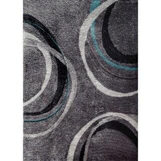 Mallory Contemporary Grey Area Rug by FOA - 5' x 7'