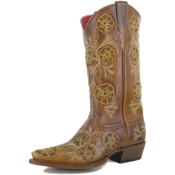Macie Bean Western Boots Womens Cowboy Floral Josephine Whiskey