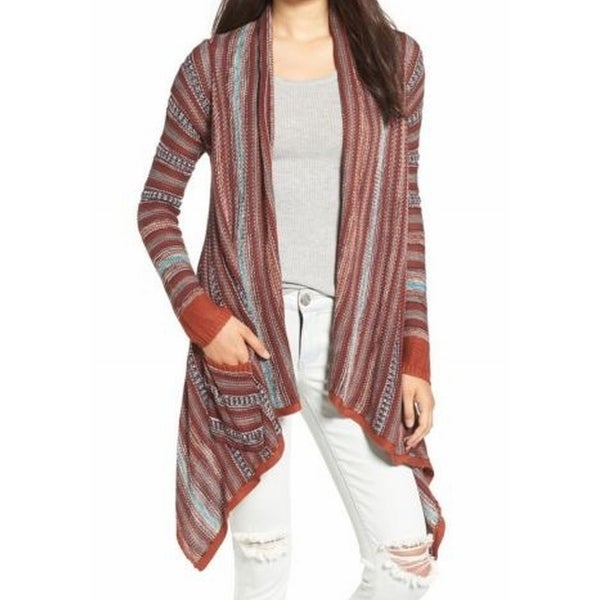 Shop Billabong NEW Orange Women s Size Small S Draped Cardigan Sweater - Free  Shipping On Orders Over  45 - Overstock.com - 18351357 ae9a44ee1