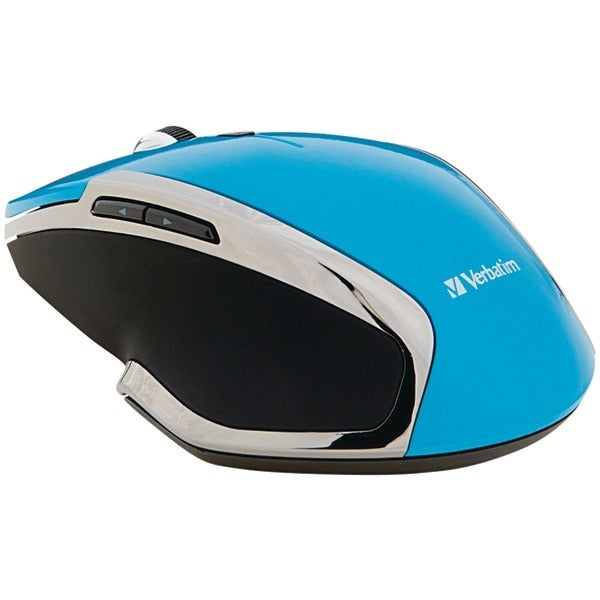 Verbatim 99016 Wireless Notebook 6-Button Deluxe Blue Led Mouse (Blue)
